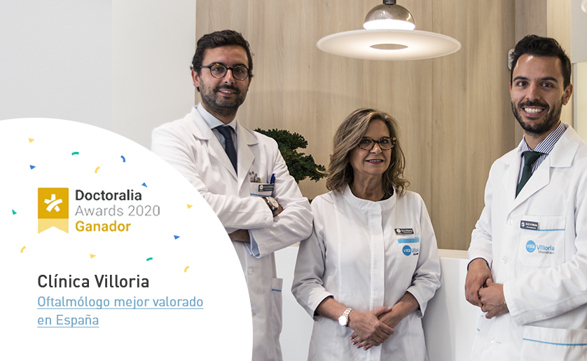 Clinica Villoria recibe el premio a mejor oftalmologo de España 2020 por Doctoralia